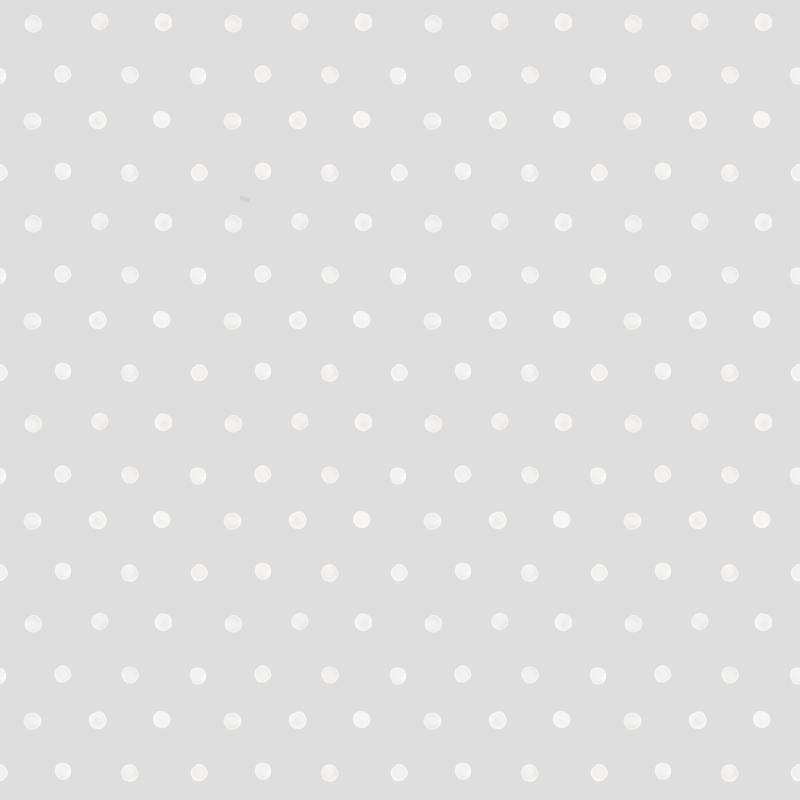 Vliestapete 'Punkte' hellgrau/weiß
