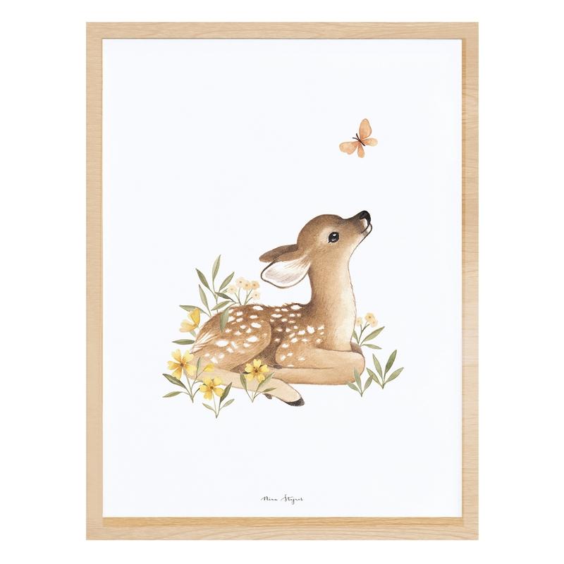 Bild 'Oh Deer' Reh beige 30x40cm