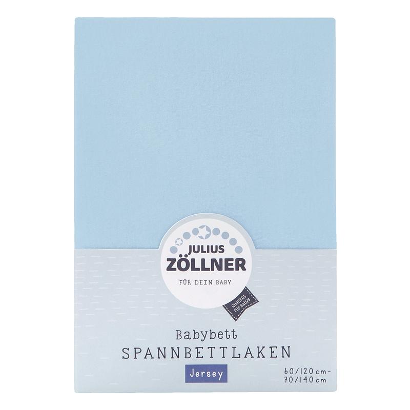 Spannbettlaken für Babybett Jersey hellblau