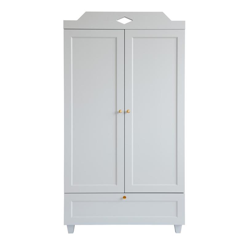 Kleiderschrank 'Carla' Holz grau 90x165cm