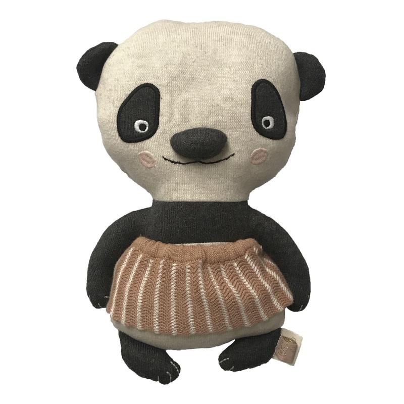 Kuscheltier 'Panda Lun' Strick schwarz/weiß