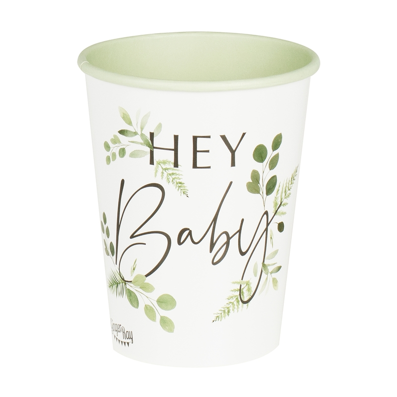 Pappbecher 'Botanical Babyparty' 8 St.