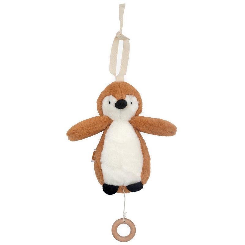 Spieluhr 'Pinguin' Plüsch rost ca. 20cm