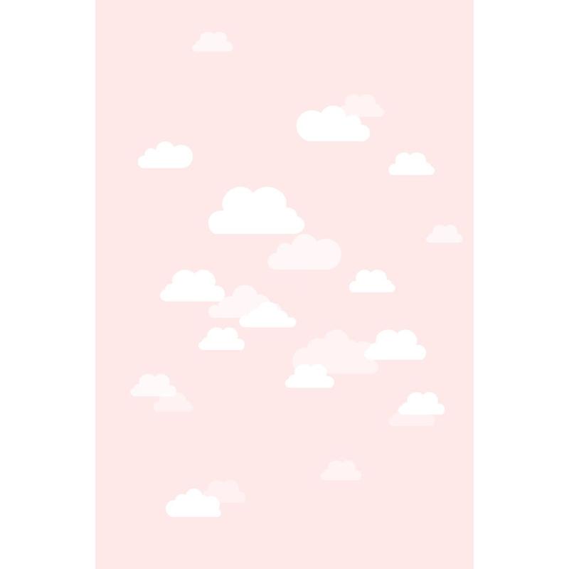 Fototapete 'Wolken' puderrosa 186x279cm