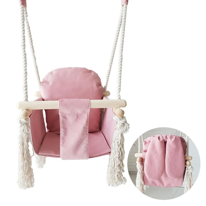 Babyschaukel/Hasenschaukel rosa ab 9 Monaten