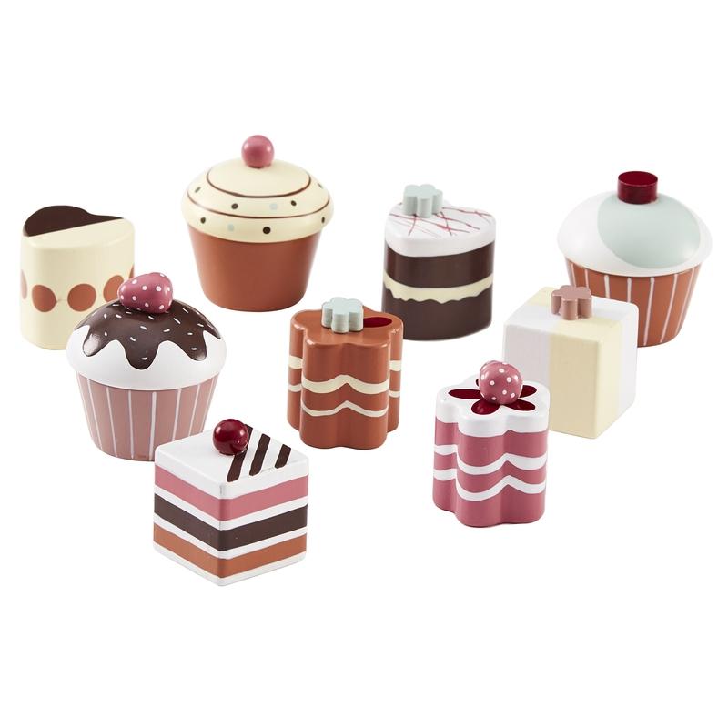 Pralinen & Cupcakes aus Holz ab 3 Jahren