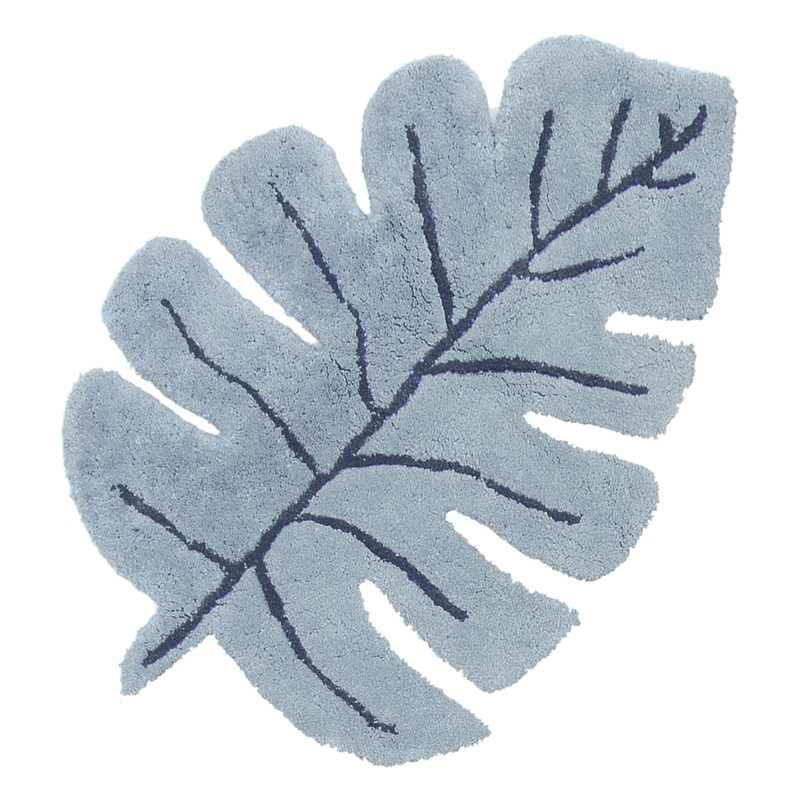Teppich 'Tanzania' Blatt blau ca. 105x150cm