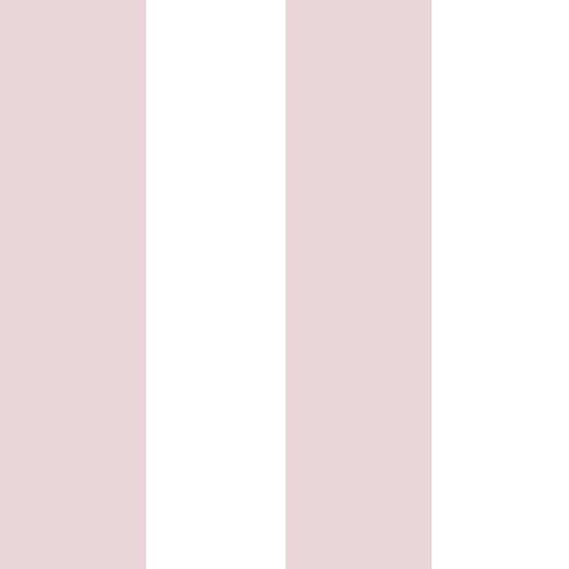 Vliestapete 'Maxi Streifen' puderrosa/weiß