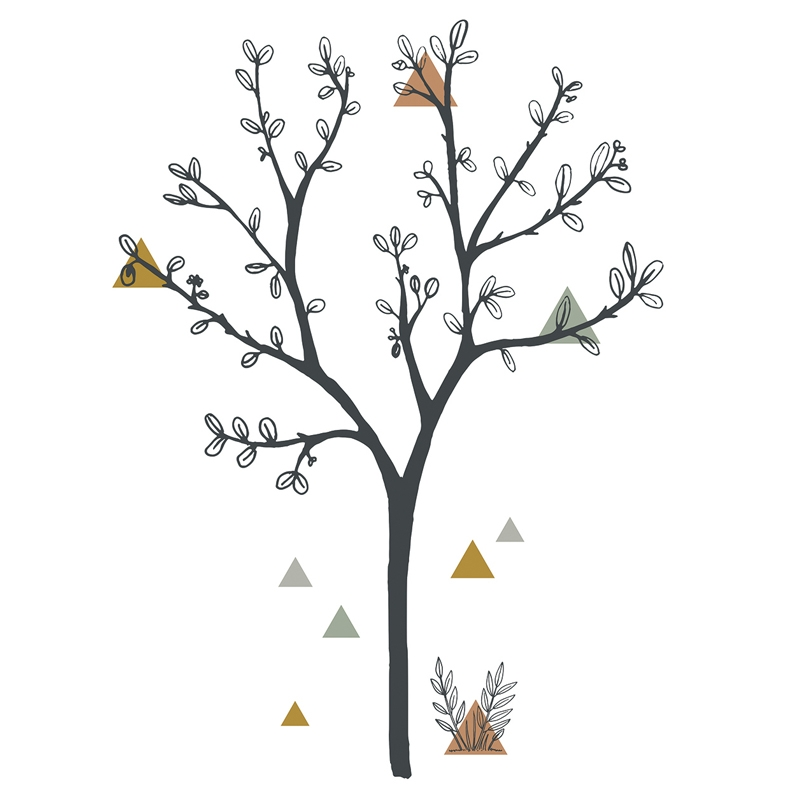 XL-Wandsticker 'Baum' schwarz 119cm