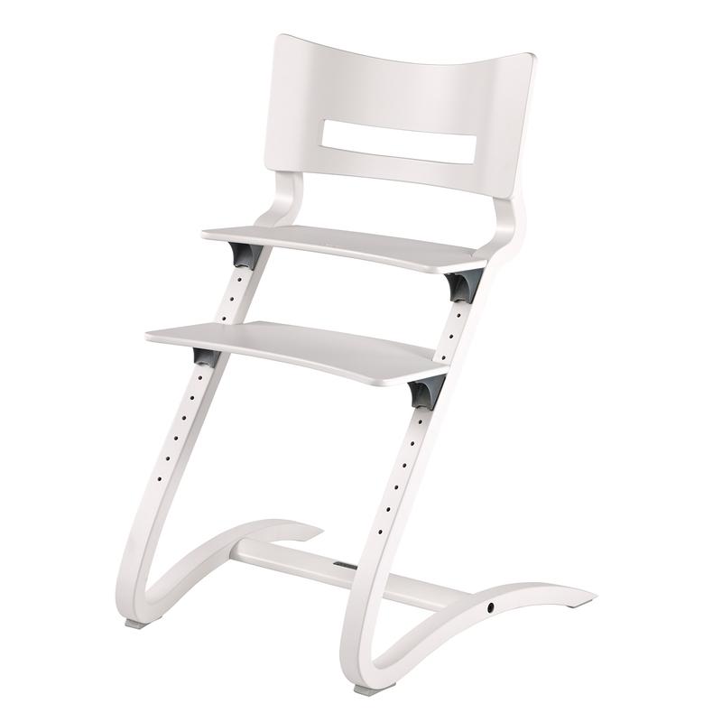 Hochstuhl mit Treppen Buche massiv weiß