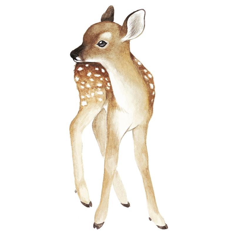 XL-Wandsticker 'Oh Deer' Reh 60cm