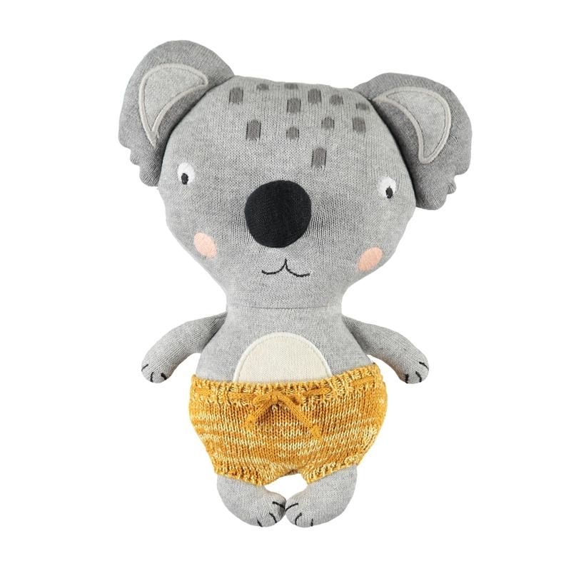 Kuscheltier 'Baby Koala Anton' Strick grau