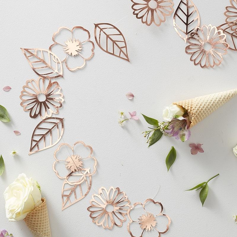 Blumengirlande 'Ditsy Floral' roségold