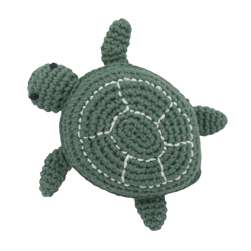 Häkel-Rassel 'Schildkröte' seaweed green