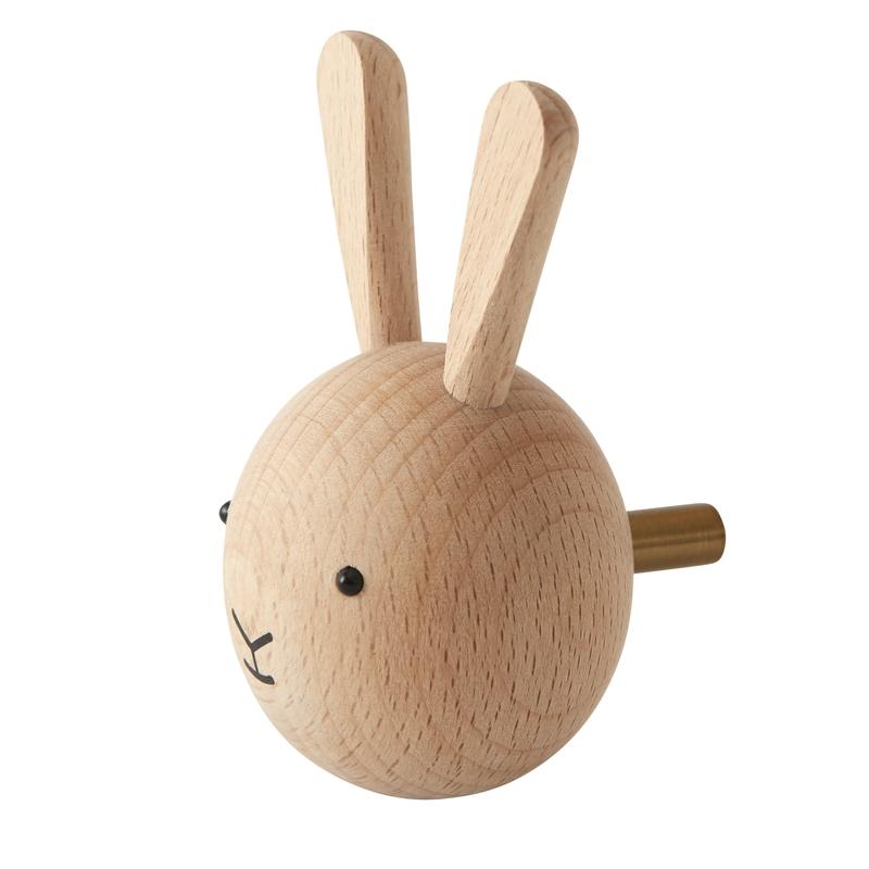 Kleiderhaken 'Hase' aus Buchenholz