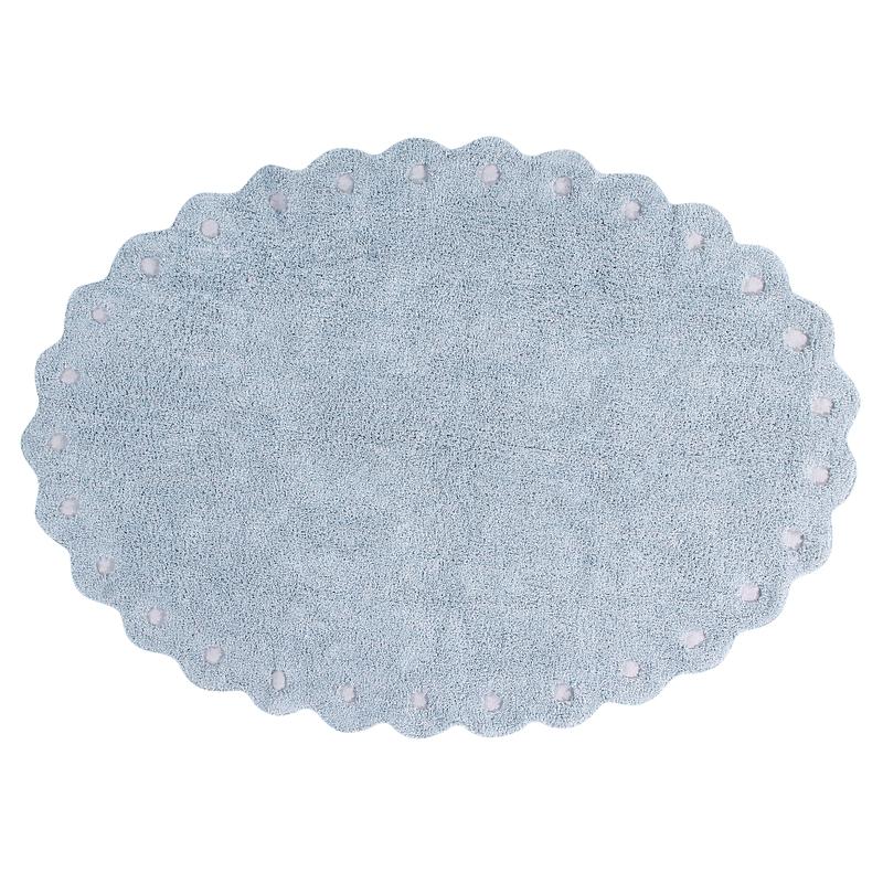 Teppich 'Picone' oval hellblau 130x180cm waschbar