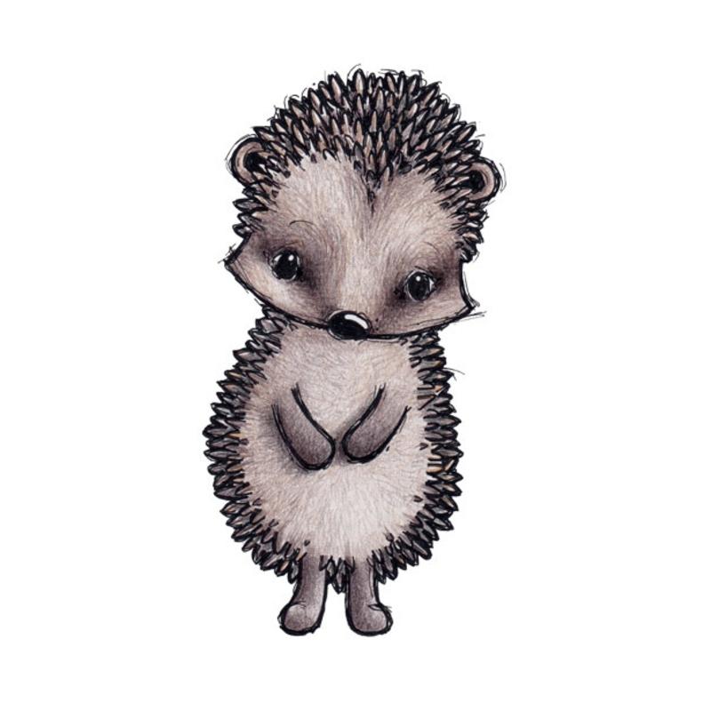 Tier-Wandsticker 'Igel' handgezeichnet