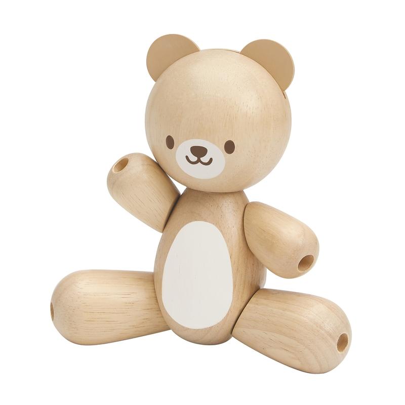 Motorikspielzeug 'Teddy' Naturholz 13cm ab 1 Jahr