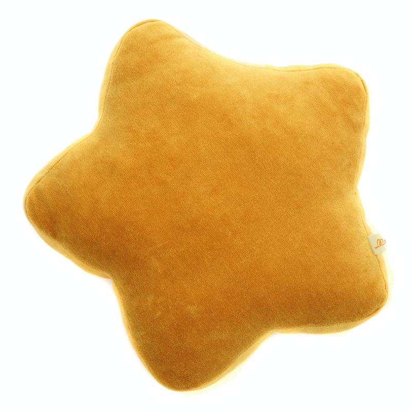 Kissen 'Stern' aus Samt senfgelb ca. 30cm