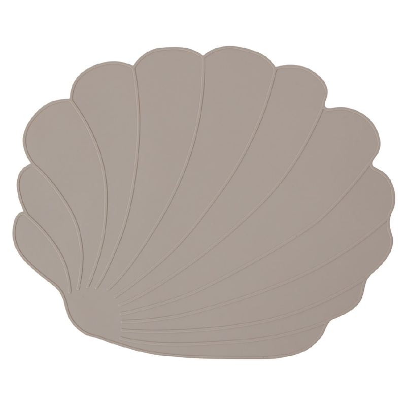 Tischset 'Muschel' Silikon taupe