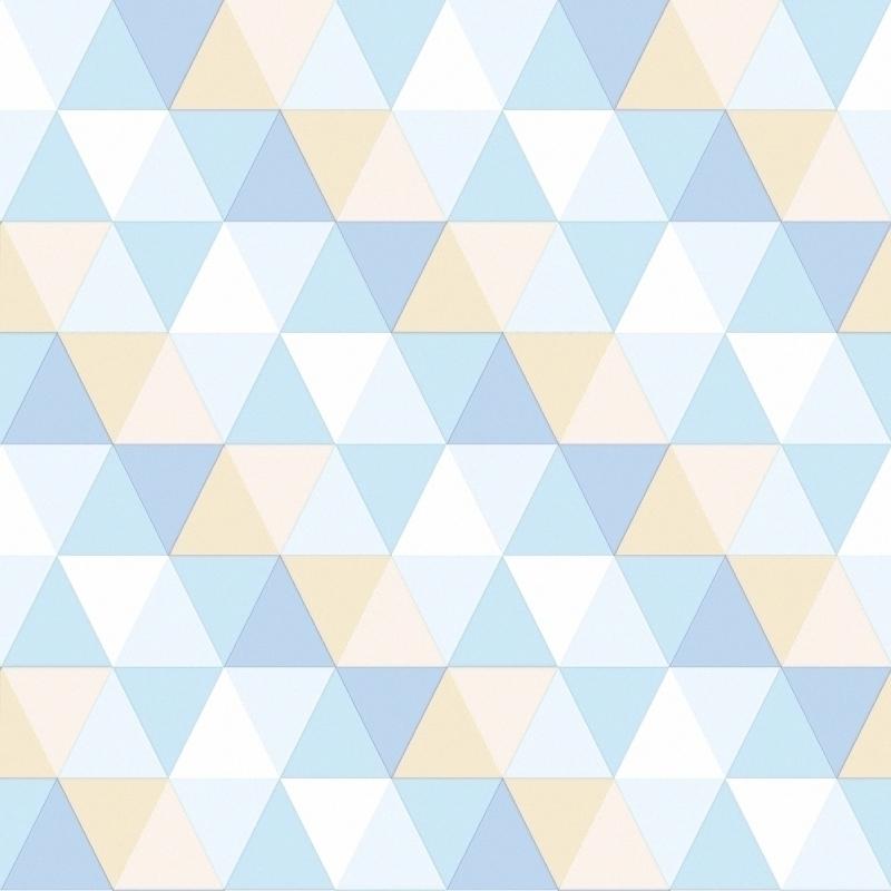 Vliestapete 'Triangle' hellbau/beige