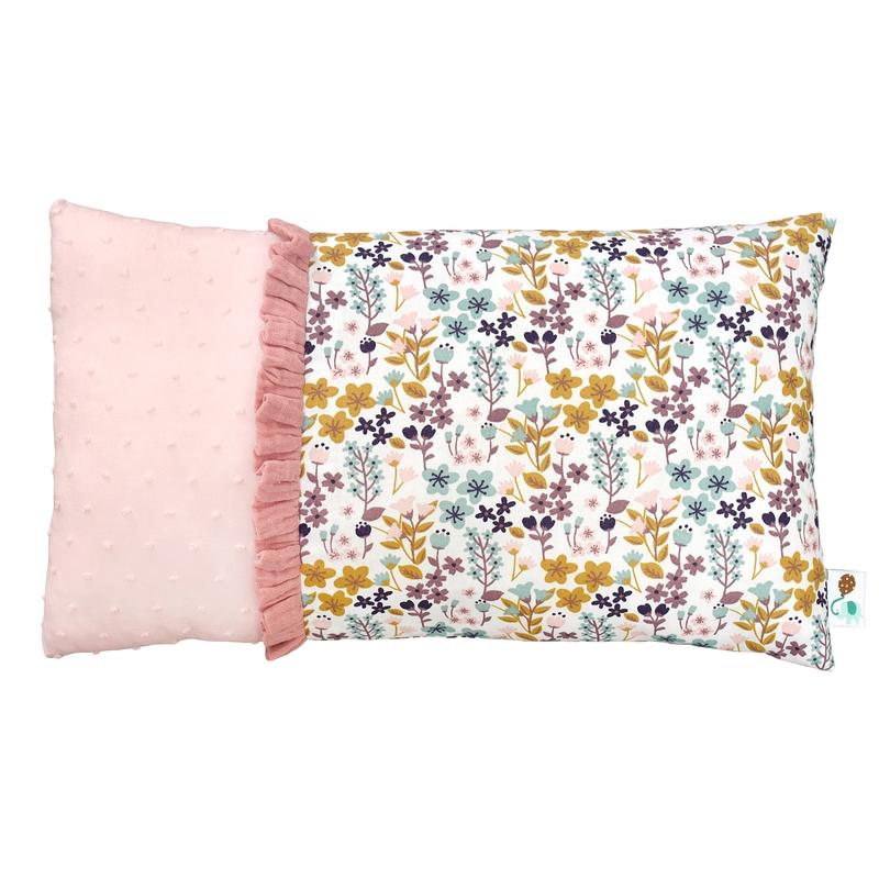 Minikissen 'Blumen' rosa/bunt 20x35cm
