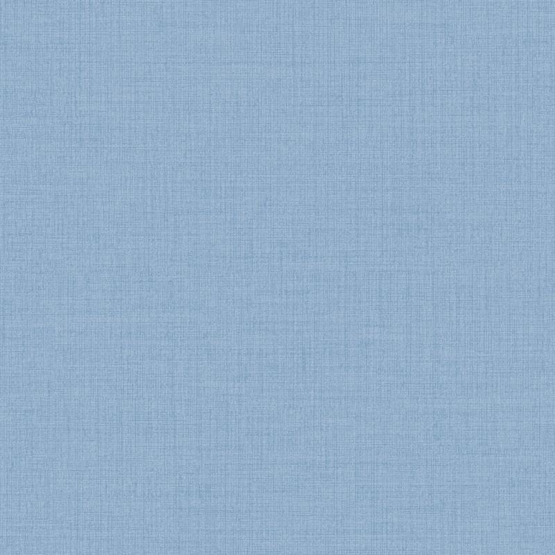 Vliestapete 'Leinenoptik' Uni blau