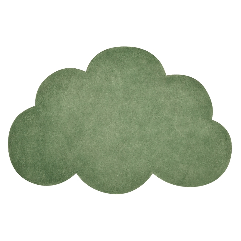 Kinderteppich 'Wolke' waldgrün ca. 64x100cm