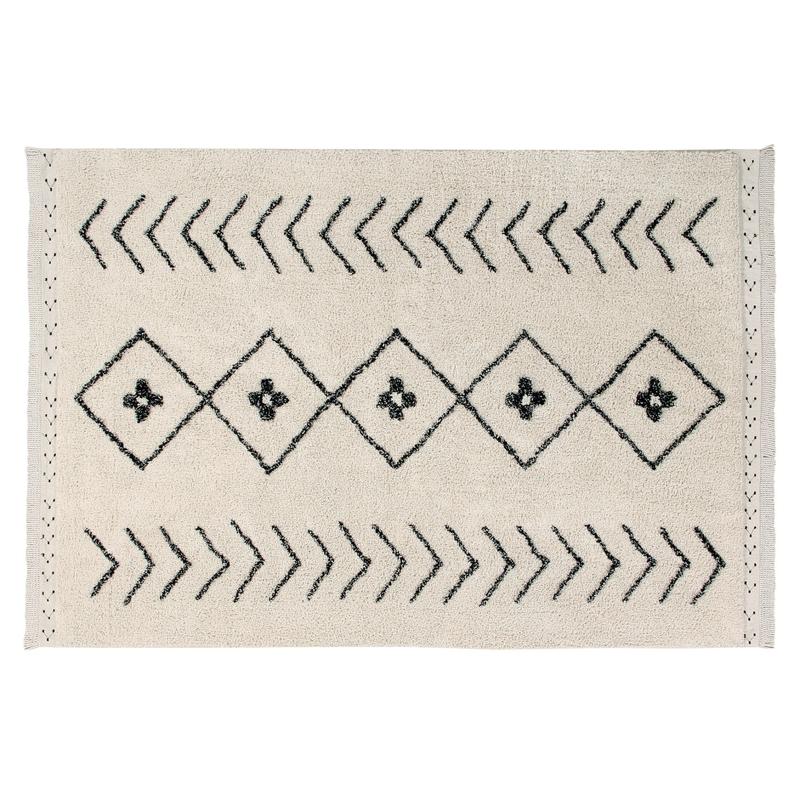 Teppich 'Bereber Rhombs' natur waschbar