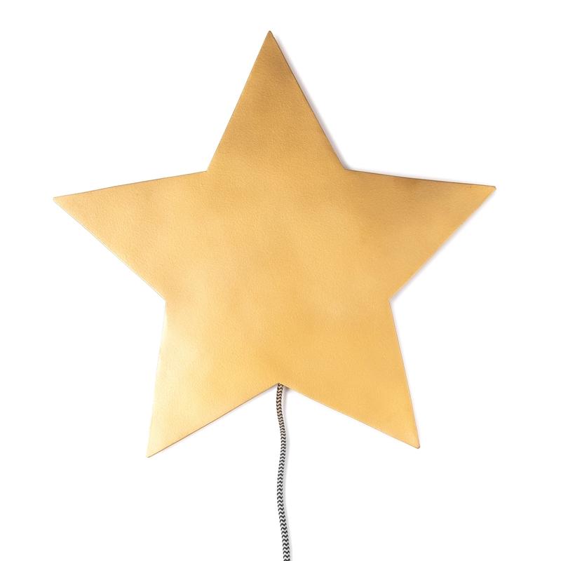 Wandlampe 'Barbe Stern' gold LED 35cm
