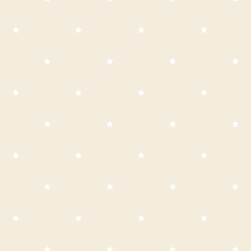 Vliestapete 'Glanzsterne' beige/perlmutt