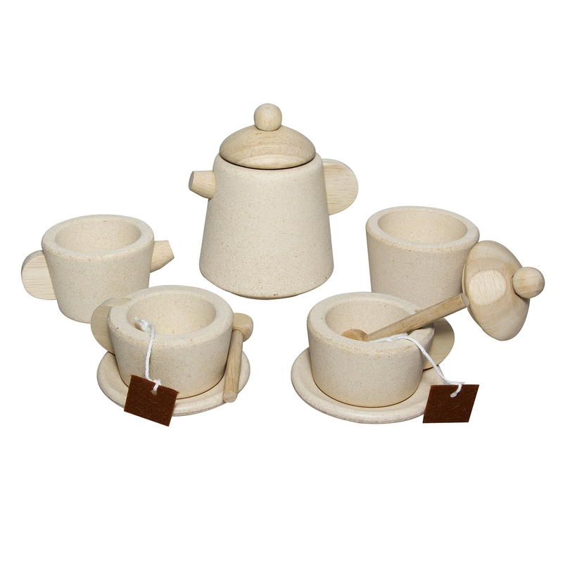 Teeset aus Naturholz 11-tlg. ab 2 Jahren