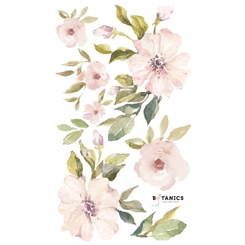 XL-Wandsticker 'Magnolien' puderrosa