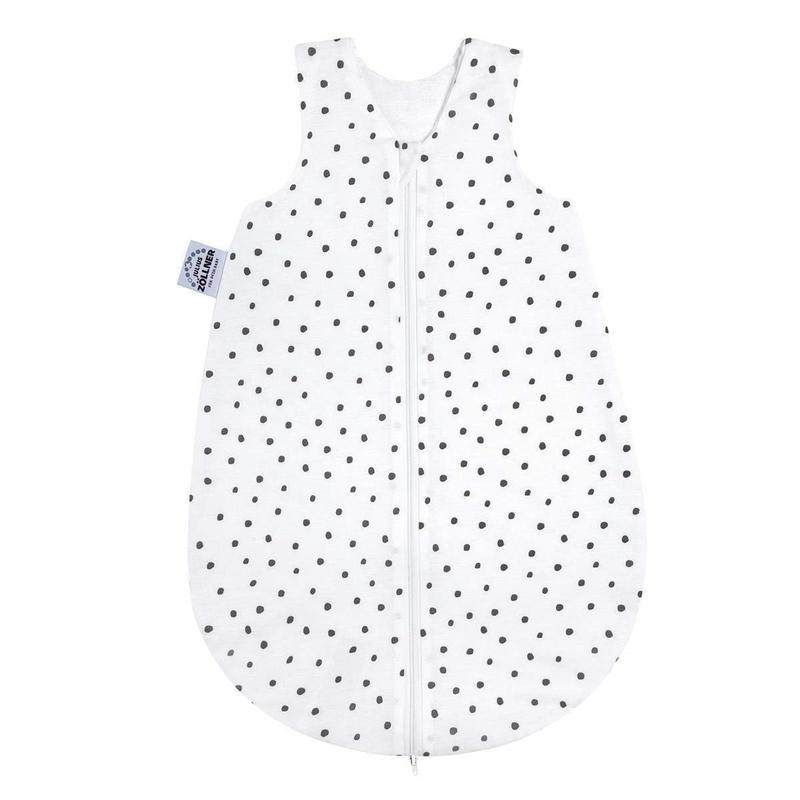 Sommerschlafsack 'Punkte' Jersey weiß/grau