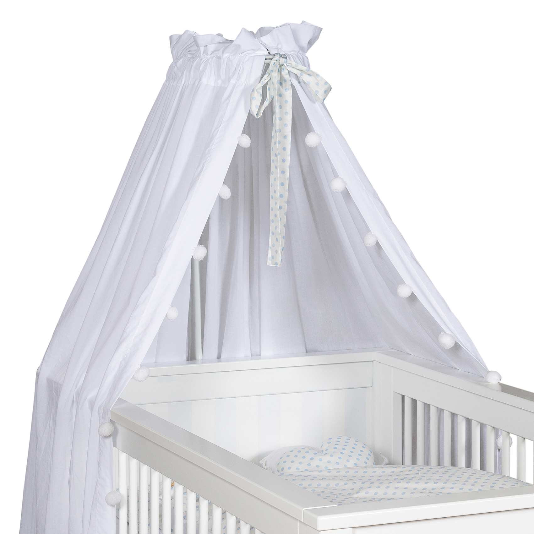 Babybett Himmel 'Pompon' weiß