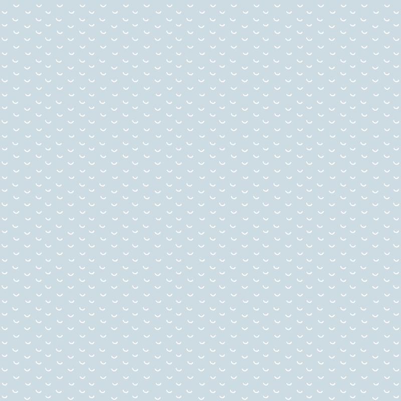 Tapete 'Kleinmuster' hellblau/weiß