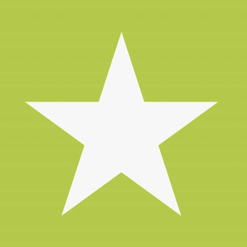 Vliestapete 'XL-Stern' grün/weiß