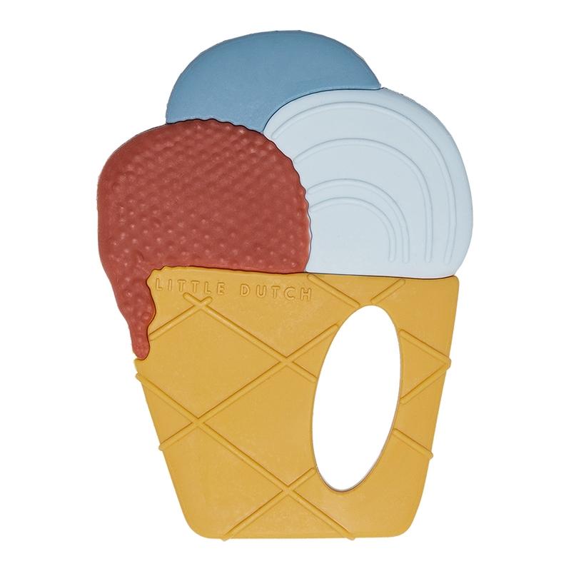 Beißring 'Eiscreme' aus Silikon 9cm