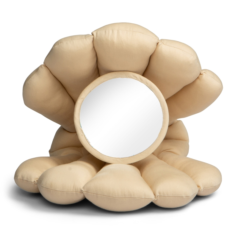 Bodenspiegel 'Muschel' beige 29cm