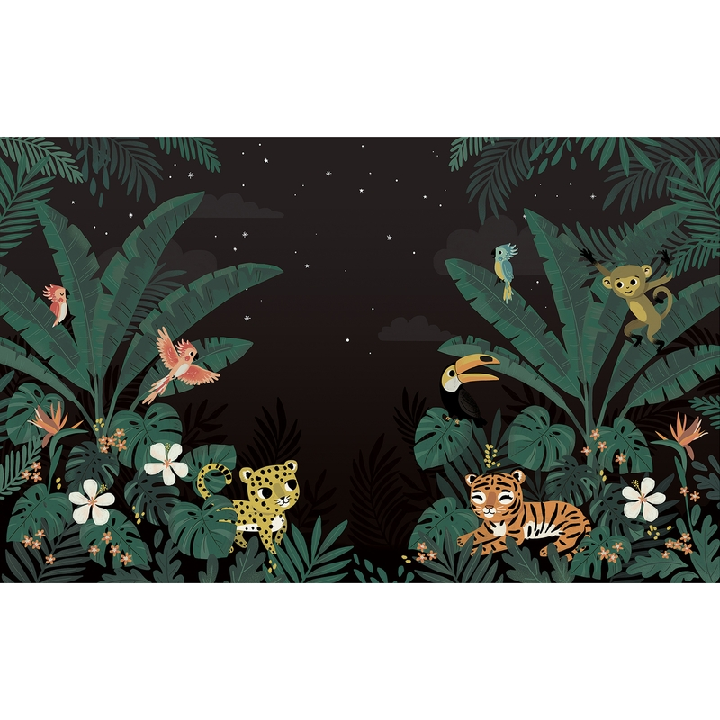 Fototapete 'Jungle bei Nacht' 400x248cm