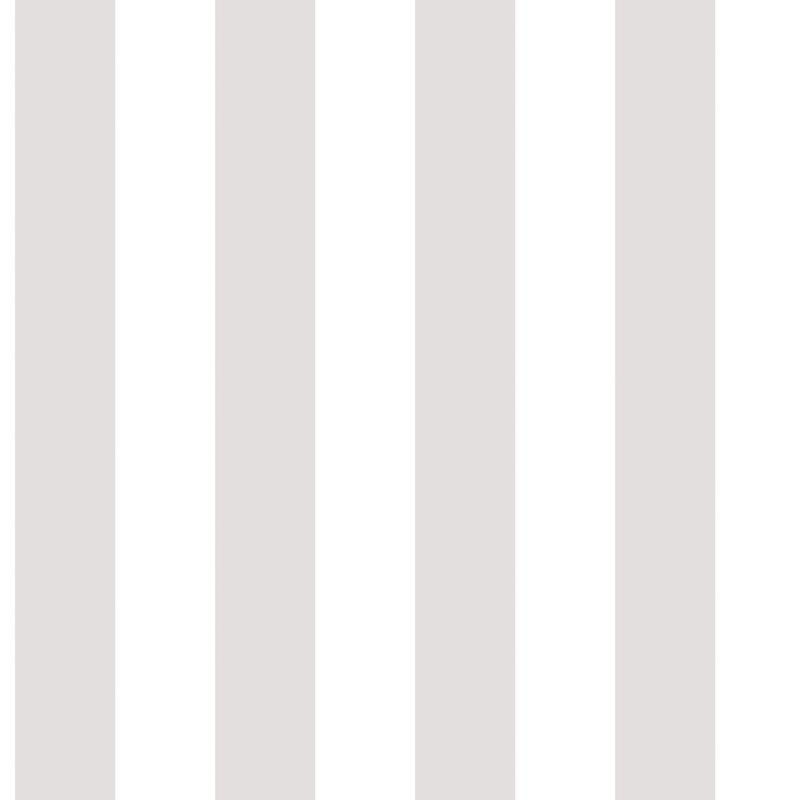 Vliestapete 'Maxi Streifen' hellgrau/weiß
