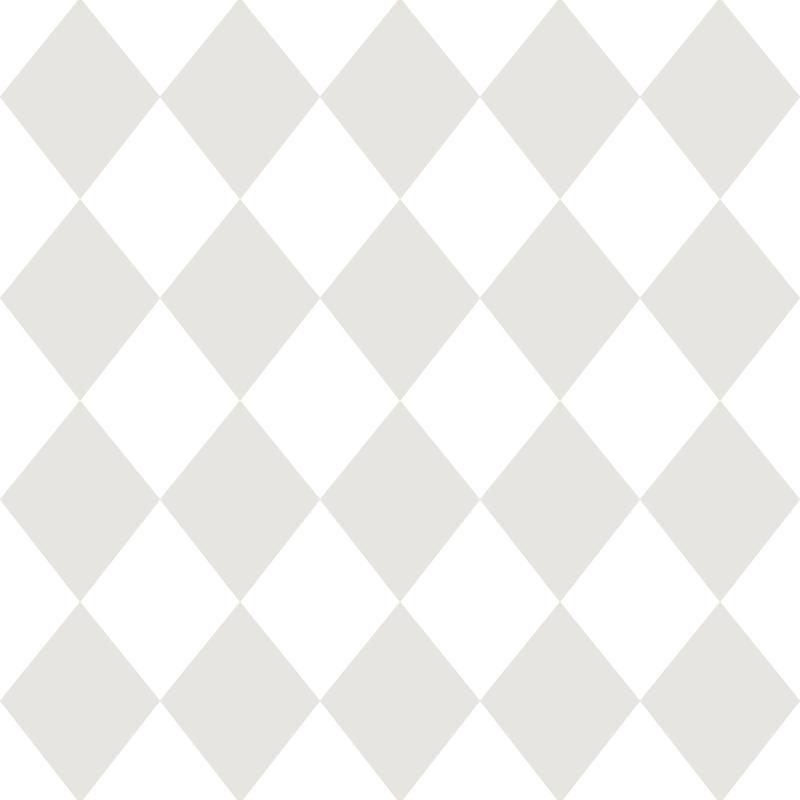 Kindertapete 'Rauten' grau/weiß