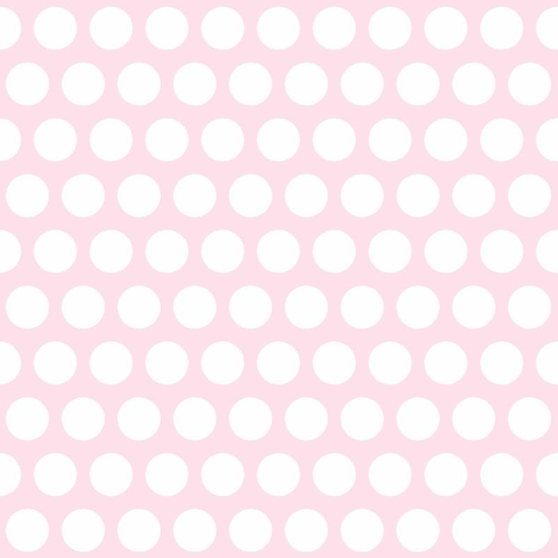 Vliestapete 'Maxi-Punkte' rosa/weiß