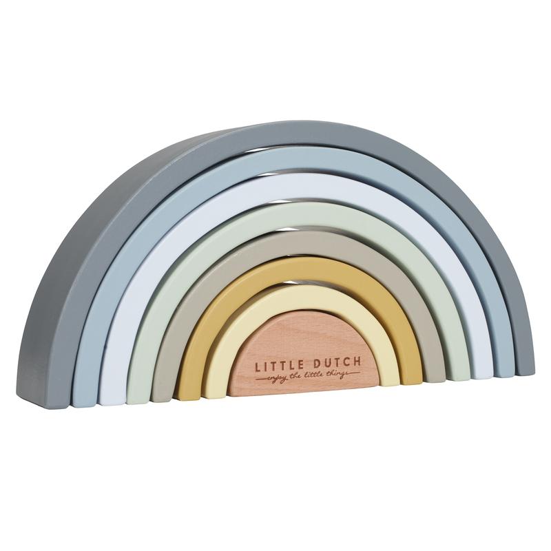 Regenbogen aus Holz blau/senf 23cm ab 1 Jahr
