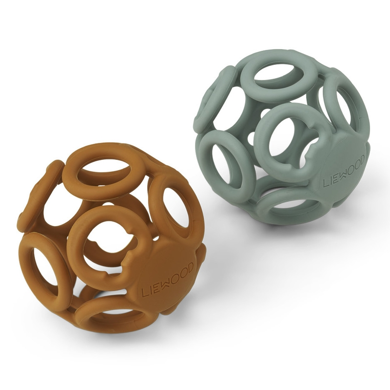 Greifbälle aus Silikon jade/camel