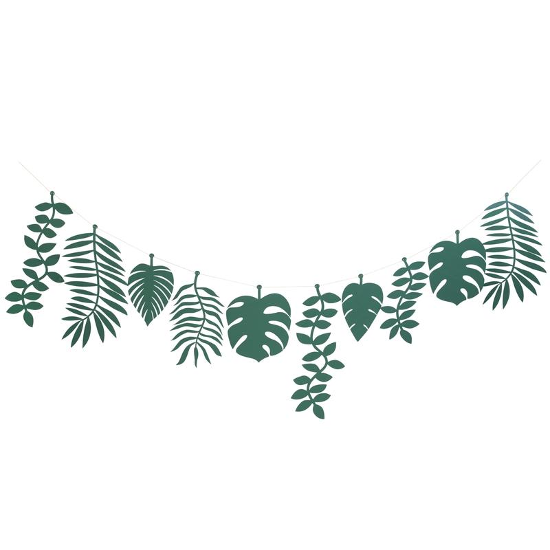 Party Girlande 'Dschungel' Blätter grün L 2,4m