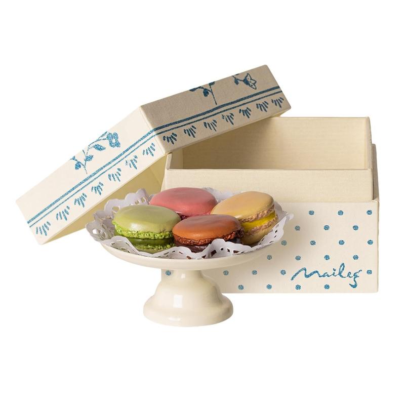Macarons Etagere für Puppenhaus creme 5cm (Mini)