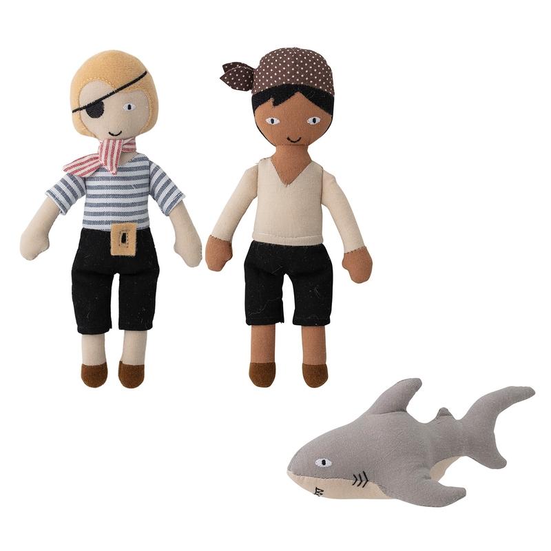Stoffpuppen 'Piraten mit Hai' 20cm 3-tlg.
