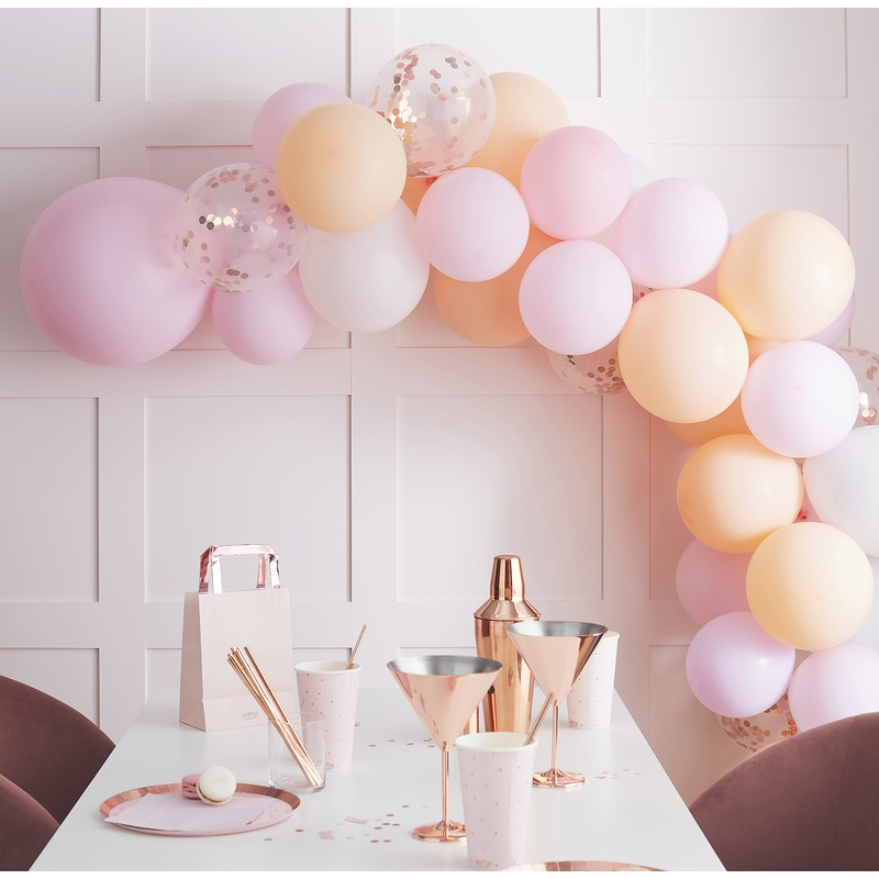 Ballongirlande Pastell rosa/pfirsich