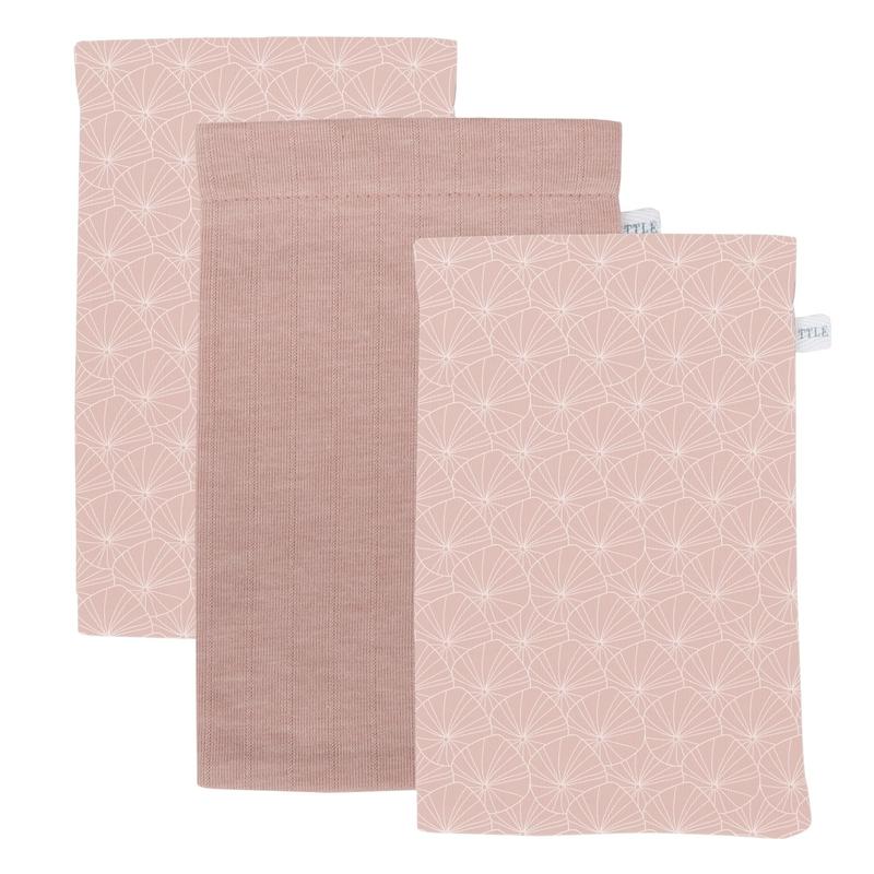 Waschlappen 'Lily Leaves' rosa 3er Set